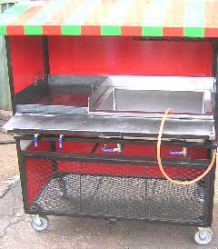 2 division bain marie food trolley