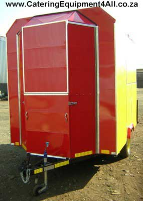 Photo: Catering Trailer - red and yellow front