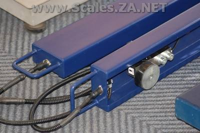 photo of a Cattle scales for sale AELP-Pallet-Beams-with-Indicator