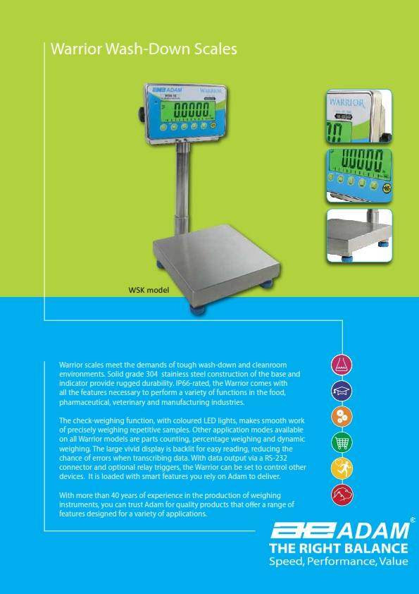 pic: Warrior Washdown Industrial Scales Brochure - CateringEquipment4All.co.za