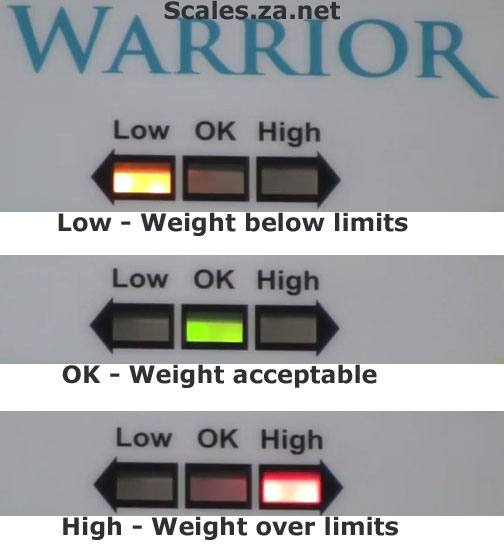 warrior-limits-display-for-check-weighing for sale by Scales.za.net