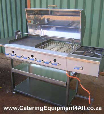 Photo: Gas braais 8 burner, solid plate, potjiekos grid